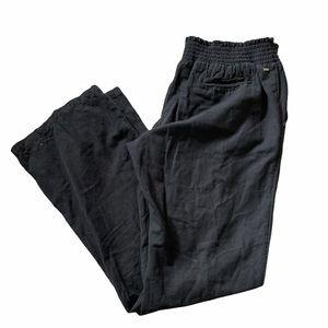 Rip curl wide legged linen pants
